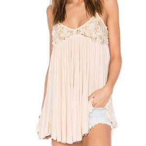 Strappy Flowy Cream Colored Free People Tank Top